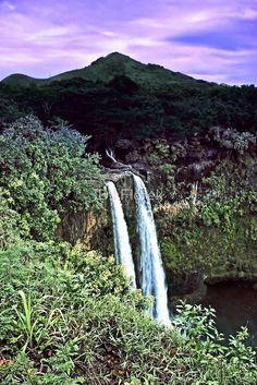 Wailua Falls located in Lihue on the island of Kauai