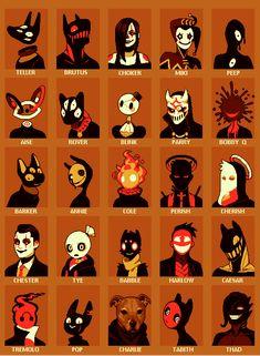 "kadabura: ""odd little NPCs "" Fantasy Character Design, Character Design Inspiration, Character Art, Character Concept, Creature Concept Art, Creature Design, Arte Obscura, Drawing Expressions, Creepy Art"