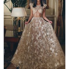 two pieces prom dresses cap sleeve lace evening dresses a line party dresses formal dresses arabic Indian Wedding Outfits, Bridal Outfits, Indian Outfits, Indian Dresses, Prom Dresses With Sleeves, Lace Evening Dresses, Evening Gowns, Formal Dresses, Party Dresses