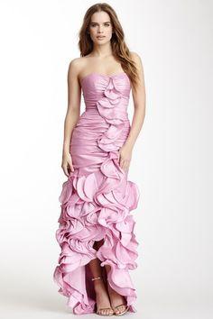 Dalia MacPhee Strapless Ruffle Hi-Lo Dress by Dalia MacPhee on @HauteLook