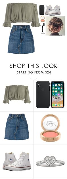 """Untitled #342"" by jaylaleigh ❤ liked on Polyvore featuring Sans Souci, Levi's, Converse and Bobbi Brown Cosmetics"