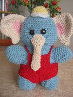 Amigurumi elefante filho do Peep, amiguinho para dormir.