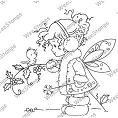 Whimsy - Cling Rubber Stamp - Sylvia Zet - Winter Fairy