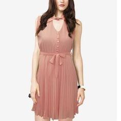 Peach Collared Cut-out Back Dress - $10.63 on @ClozetteCo