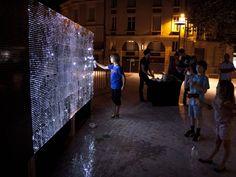 Water Light Graffiti Installation by Antonin Fourneau
