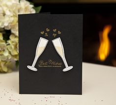 Wedding Toast Card by Ashley Cannon Newell for Papertrey Ink (December 2013)