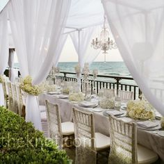 Oceanfront Wedding Cabanas - PERFECT!