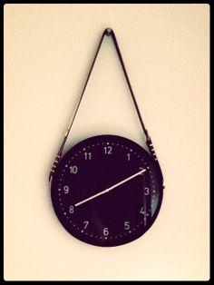 Hanging wall clock, belts, gubi mirror inspired