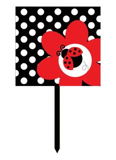 LadyBug Fancy Yard Sign