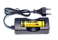 TUOFENG® 18650 inteligente cargador de batería + dedicado sola batería de iones de litio de la combinación perfecta