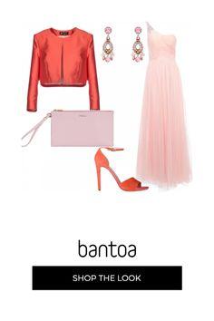 39f0e786eed8 Accostamento di Rottura  Rosa   Corallo  outfit donna Chic per serata fuori
