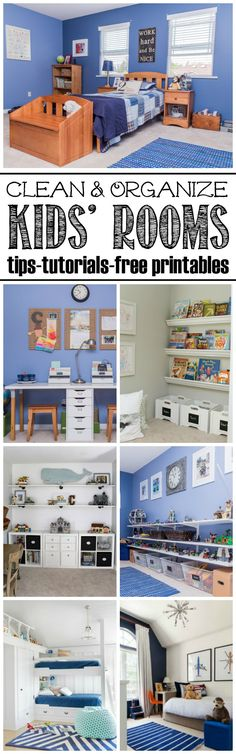 How to get your kids' rooms cleaned and organized. Free printables and lots of…