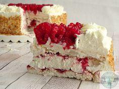 Slagroom - meringue taart met frambozen | Bakkriebels Sweets Cake, Cookie Desserts, Cupcake Cakes, Cupcakes, Dutch Recipes, Sweet Recipes, Cake Recipes, Baking Bad, Pavlova