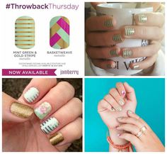 <3 Jam of the Day <3  It's Throwback Thursday time again - this week we have another 2 wraps being reintroduced from the Jamberry retirement home. Again, these are only available from today until Monday so get them before they've gone (or sold out).  Mint Green & Gold Stripe and Basketweave or both gorgeous shiny wraps that will add a little colour to your nails.  https://chamsjams.jamberry.com/uk   #Jamoftheday #wrapoftheday #jamberry #throwbackthursday #TBT