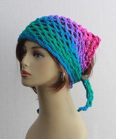 75577adbbc911 Crochet Bandana Durag Summer Womens Girls Gypsy Spirit Mesh Festival Hippie  Dreadlock Scarf Hair Band Dorag Boho Crochet Mesh