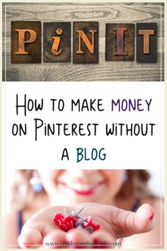 How to use affiliate links to make money on Pinterest without a blog. Earn money online with affiliate marketing. Work at home and make an income from Pinterest. #affiliatemarketing #wahm #sidehustle