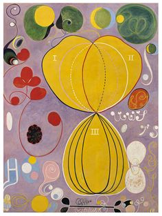 Reproduction of an oil-on-canvas abstract by Swedish artist Hilda af Klint. Thought Wassily Kandinksy was the first abstract painter? af Klint was there years before him with a series of beautifully daffy abstractions painted between 1905 and Vincent Van Gogh, Abstract Painters, Abstract Art, Abstract Shapes, Alfons Mucha, Example Of Abstract, Art Visionnaire, Hilma Af Klint, Kunst Poster