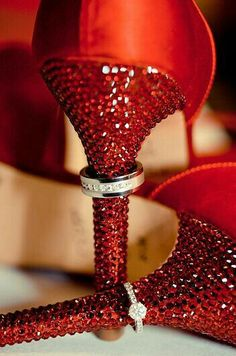 "Red Swarovski Crystal Shoes ""For the Wedding Socialites"" -Estella Seraphim Mode Glamour, Crystal Shoes, Shades Of Red, Ruby Red, Beautiful Shoes, My Favorite Color, Red Color, Lady In Red, Me Too Shoes"