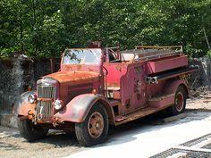 Abandoned 1947? White Firetruck - Hoonah #602 by Mark Dalzell, via Flickr