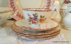 Stunning Pretty Floral 'Ainsley' 'Royal by PollysTeaRooms on Etsy, £7.95
