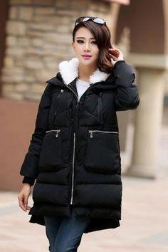 Зимняя женская куртка-пуховик с капюшоном 1200 грн