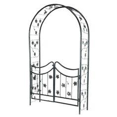 Amazon.com: Tierra-Derco 36286 Garden Walk Bacchus Steel Arch with Gates: Patio, Lawn & Garden