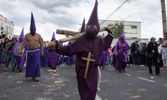During the 2015 Good Friday Procession in Quito, Ecuador.
