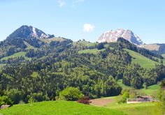 The Moléson mountain (2002 m) near Gruyères