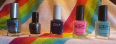 Color Club: Over the Moon (SWAPPED), Dark n Story mini (sw), Nail-robi (1/2 mani), Flamingo  (1/2 mani), Evolution (1/2 mani)
