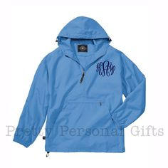 Pack N Go Monogrammed Windbreaker Pull Over Jacket with hood