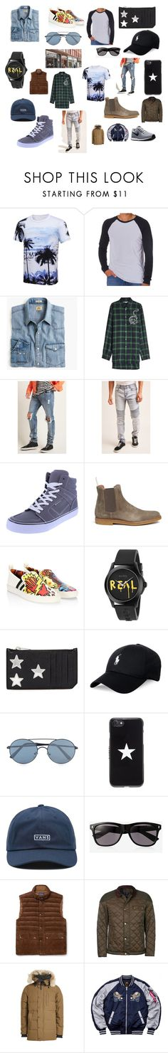 """""""z311"""" by dieselformas ❤ liked on Polyvore featuring Los Angeles Pop Art, J.Crew, STELLA McCARTNEY, 21 Men, Common Projects, Bally, Gucci, Yves Saint Laurent, Polo Ralph Lauren and Topman"""