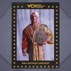 World Heavyweight Championship, Ric Flair, Wwe, Wrestling, Entertaining, Baseball Cards, Painting, Nature, Lucha Libre