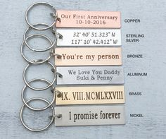 Custom Personalized Keychain Create Your Own Custom