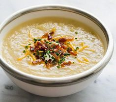 Baked Potato Soup Recipe ~ Food Network Recipes