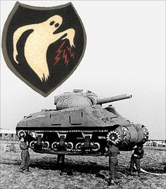 """15 Sep 45: The 23rd Headquarters Special Troops, now better known as the """"Ghost Army"""" tactical deception unit, is deactivated. The 1,100-man unit had been given a unique mission within the Army to impersonate other US Army units to deceive the enemy with a traveling road show of inflatable tanks, sound trucks, phony radio transmissions and playacting. More: http://scanningwwii.com/a?d=0915&s=450915 #WWII"""