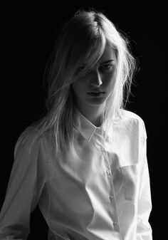 Stephen Ward shoots Julia Nobis for the winter 2011 campaign from Jac + Jack. Lensed in black and white, Julia wears the Australian label's luxurious knitwear… White Shirts, Hair Makeup, Hair Cuts, Hair Beauty, Feminine, Style Inspiration, Pure Products, My Style, Hair Styles