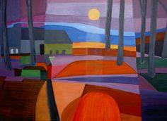 Another Dutch art birthday: Ton Schulten (b. April 25, 1938) who has developed his very own style in landscape painting, remotely influenced by Fauvism and Emil Nolde, but with a strange New Age...