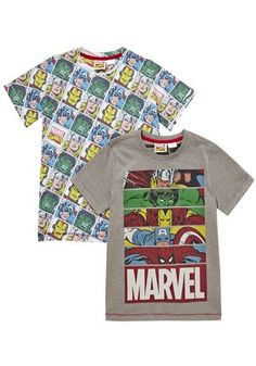 Marvel 2 Pack of Avengers T-Shirts at F&F Clothing