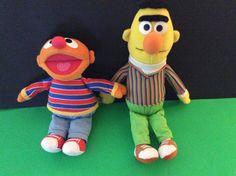 Sesame Street Bert and Ernie Plush Stuffed Dolls Fisher Price april May 2000 | eBay