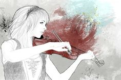 Lindsey Stirling, Skrzypce, Rysunek