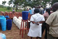 Handwashing equipment ready for distribution to communities.