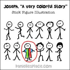 """Joseph, A Very Colorful Story"" Bible lesson illustration for Sunday School lesson on www.daniellesplace.com"