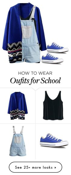 """bye school"" by lovemelikeyourlast on Polyvore featuring MANGO, Vans and Converse"