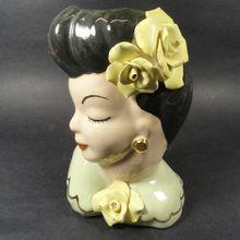 1940s Lady Head Vase