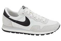 A fresh and simple white and black colorway arrives for the classic 1983 Air Pegasus. Nike Air Pegasus, Girls Sneakers, Sneakers Nike, Me Too Shoes, Men's Shoes, New Trainers, Sneak Attack, Relaxed Outfit, Athletic Gear