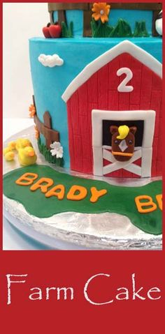 This farm cake made me happy.  Homemade fondant recipe for great decorating.