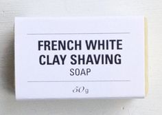 leaves of tress clay shave soap | moisturizing, natural shaving bar that has great slip for a close shave