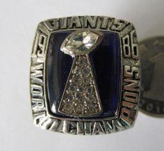 Giants superbowl ring #1 1986 - Giants 39 Broncos 20