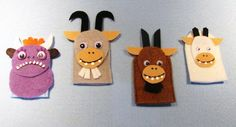 Three Billy Goats finger puppets