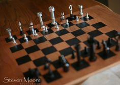 Make your own chess board and chess men for less than $50.  I think it would be fun to play with a set you made together.